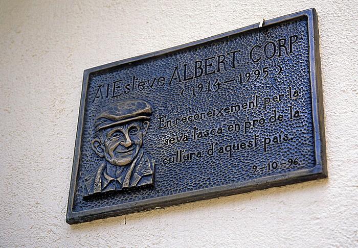 Andorra la Vella Gedenktafel für Esteve Albert i Corp
