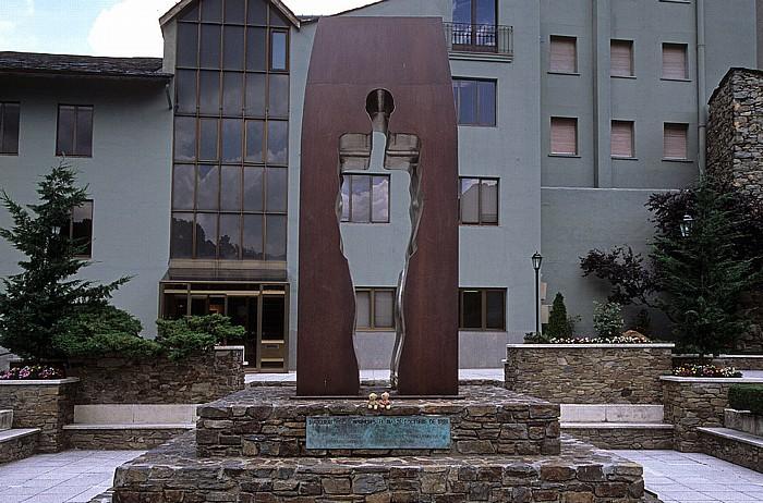 Andorra la Vella Vorplatz des Casa de la Vall