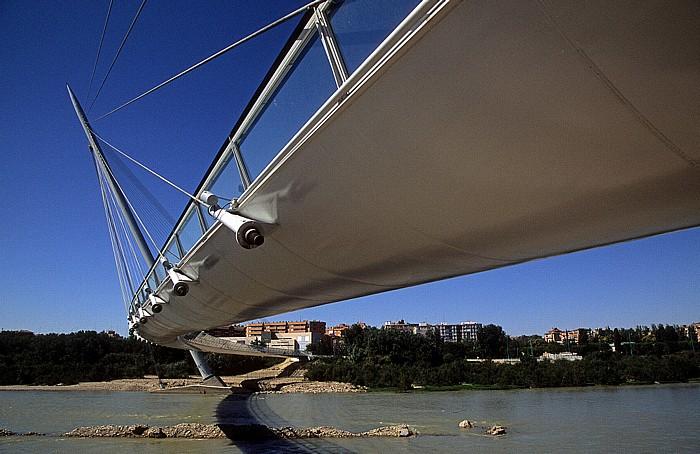 Saragossa Pasarela del Voluntariado über den Ebro