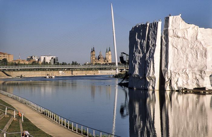 Saragossa EXPO Zaragoza 2008: Ebro, Eisberg Basílica del Pilar Pasarela del Voluntariado