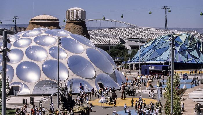 Saragossa EXPO Zaragoza 2008 Brücken-Pavillon Seilbahn