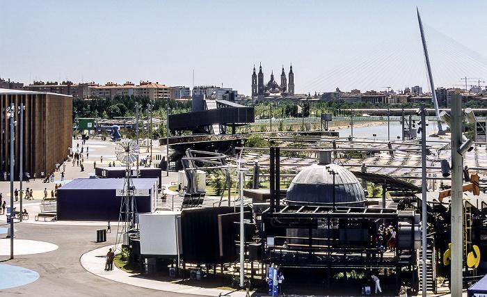 Saragossa EXPO Zaragoza 2008 Basílica del Pilar Ebro Pasarela del Voluntariado Spanischer Pavillon