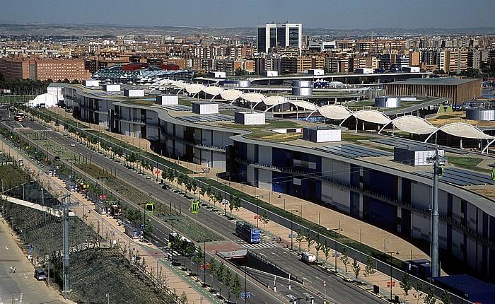 Saragossa EXPO Zaragoza 2008: Blick aus dem Wasserturm (Torre del Agua)