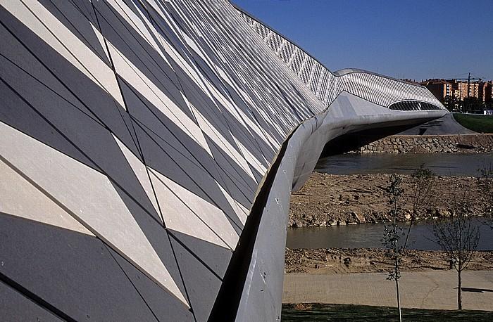 Saragossa EXPO Zaragoza 2008: Brücken-Pavillon (Pabellón Puente) über den Ebro