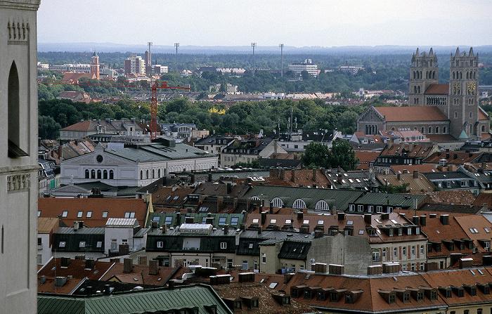 Blick vom Rathausturm (Neues Rathaus) München