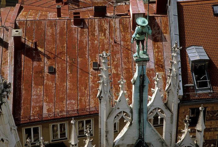 Blick vom Rathausturm: Neues Rathaus München