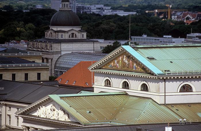 Blick vom Rathausturm (Neues Rathaus): Nationaltheater München