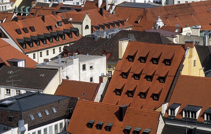 Blick vom Rathausturm (Neues Rathaus): Altstadt München