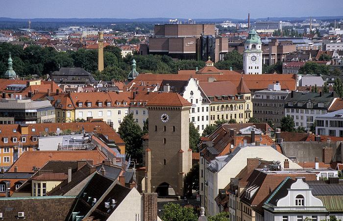 Blick vom Rathausturm (Neues Rathaus): Isartor München