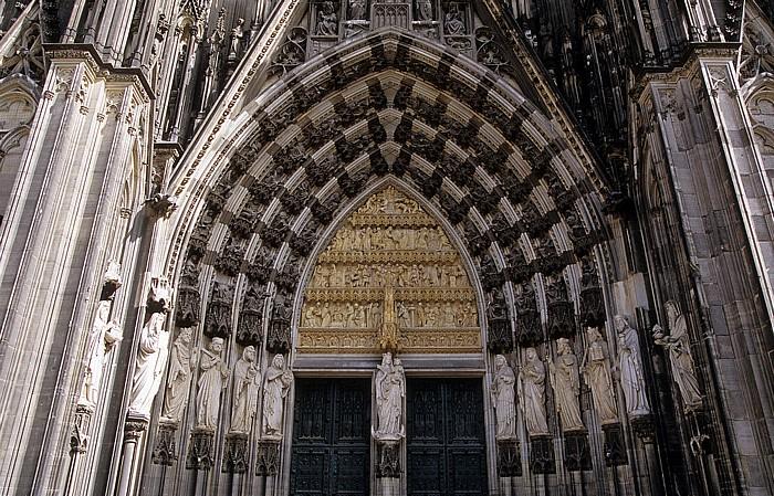 Kölner Dom (Hohe Domkirche St. Peter und Maria): Westfassade: Mittelportal (Hauptportal)