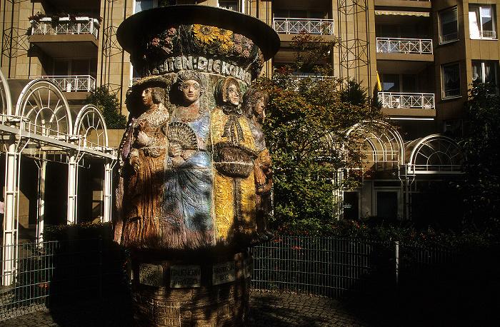 Köln Bürokomplex An Farina: Frauenbrunnen im Innenhof