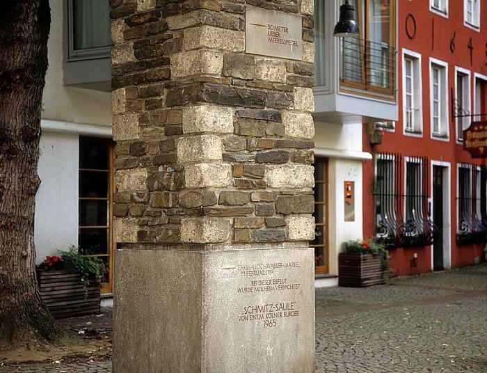 Köln Altstadt: Schmitz-Säule