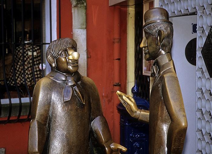 Köln Altstadt: Tünnes-und-Schäl-Denkmal
