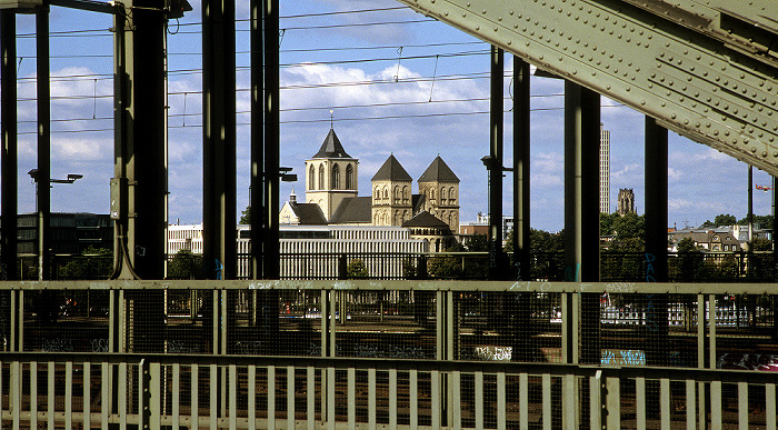 Hohenzollernbrücke, St. Kunibert Köln 2008