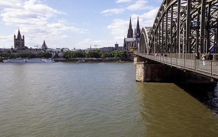 Hohenzollernbrücke, Rhein, Kölner Dom Altstadt Groß St. Martin Kölner Rathaus