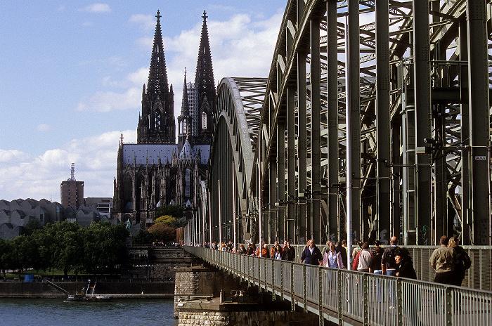 Hohenzollernbrücke, Rhein, Kölner Dom Köln 2008