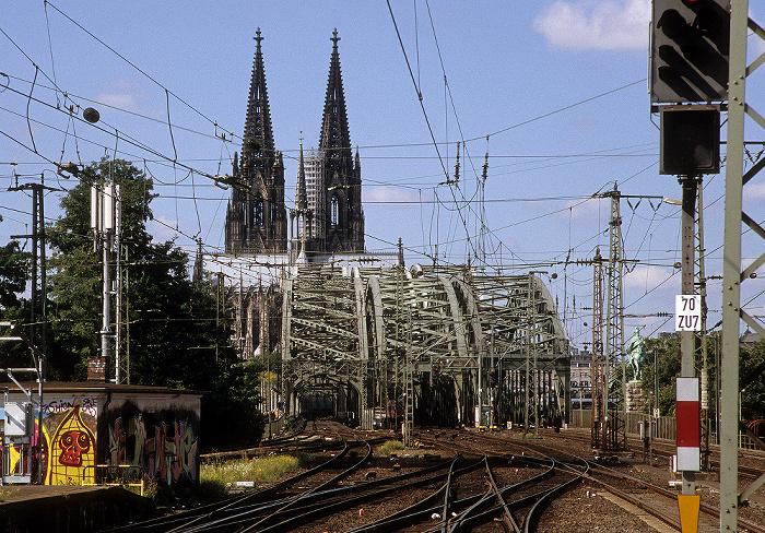 Hohenzollernbrücke, Kölner Dom