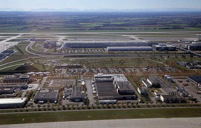 München Flughafen Franz Josef Strauß Flughafen Franz Josef Strauß Luftbild aerial photo