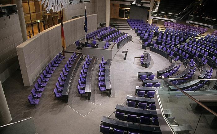Reichstagsgebäude: Plenarsaal des Deutschen Bundestages Berlin 2008