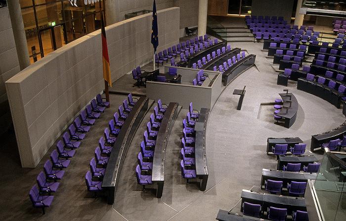 Berlin Reichstagsgebäude: Plenarsaal des Deutschen Bundestages