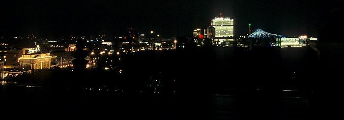 Blick vom Dach des Reichstagsgebäudes Berlin 2008