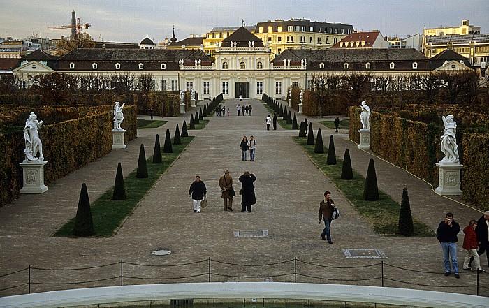 Schlossanlage Belvedere: Gartenanlage, Unteres Belvedere Wien