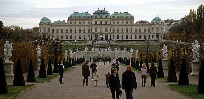 Schlossanlage Belvedere: Gartenanlage, Oberes Belvedere Wien