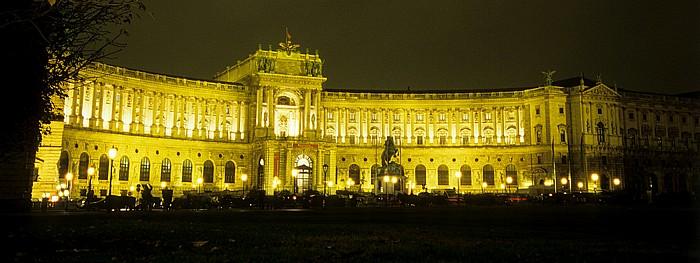 Innere Stadt: Hofburg - Heldenplatz mit Prinz-Eugen-Reiterdenkmal, Neue Burg Wien 2008