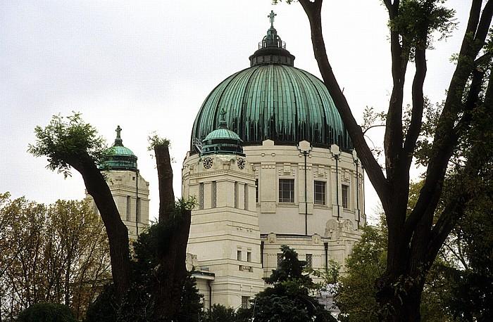 Wiener Zentralfriedhof: Karl-Borromäus-Kirche (Dr.-Karl-Lueger-Gedächtniskirche). Wien