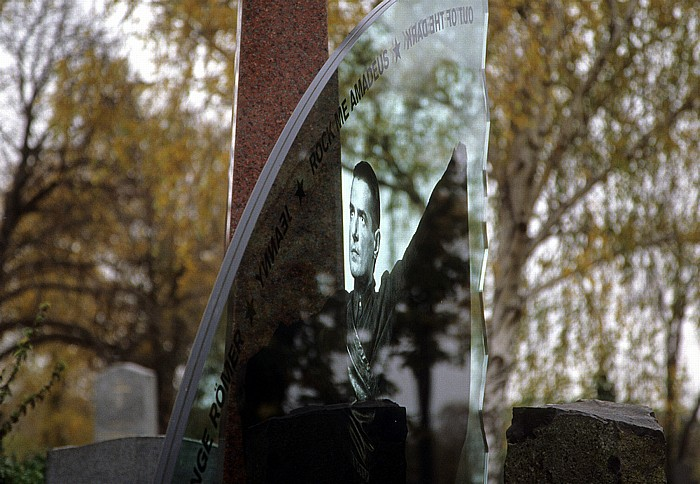 Wiener Zentralfriedhof: Gruppe 40 (Ehrenhain): Grab von Hans Hölzel (Falco) Wien