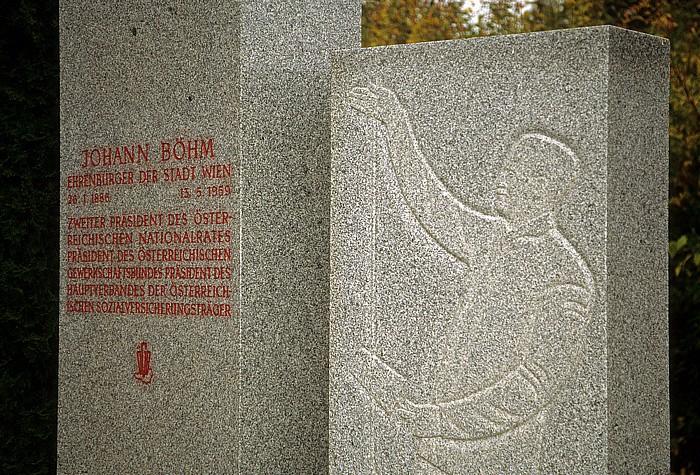 Wiener Zentralfriedhof: Ehrengrab von Johann Böhm Wien