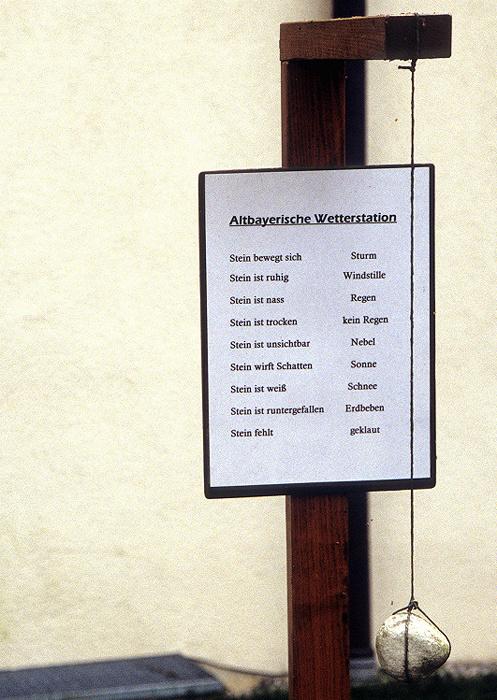 Aschering Andechser Weg: Altbayerische Wetterstation