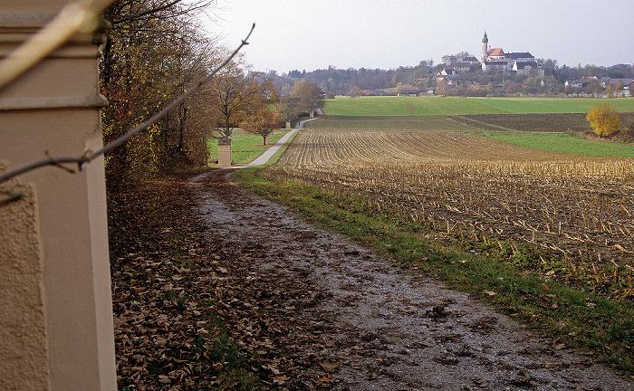 Andechs Historischer Kreuzweg, Heiliger Berg mit Klosterkirche