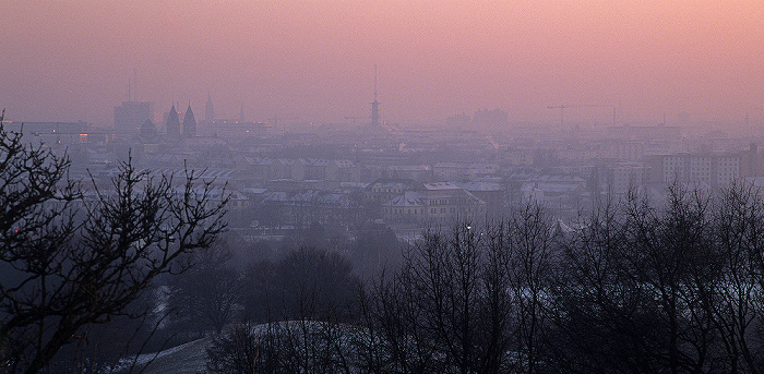 München Olympiaberg, Olympiapark, Innenstadt
