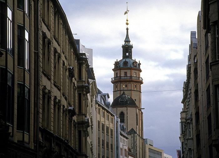 Leipzig Nikolaistraße, Turm der Stadt- und Pfarrkirche St. Nikolai (Nikolaikirche)