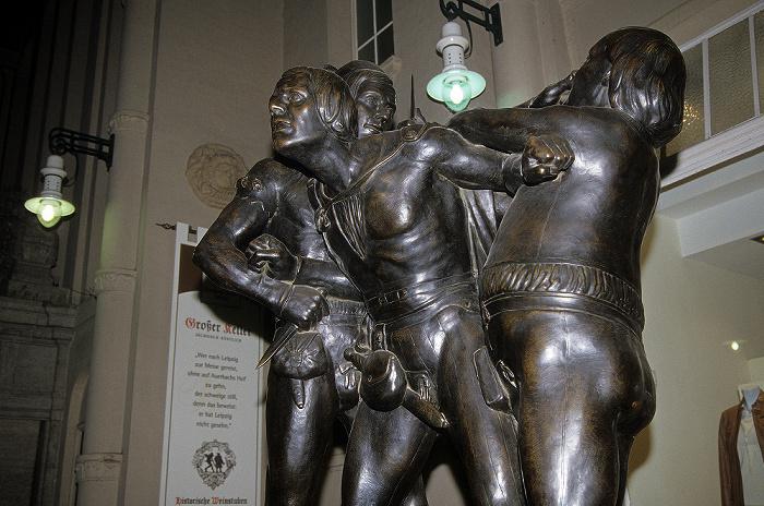 Leipzig Eingang zu Auerbachs Keller: Figurengruppe Verzauberte Studenten (von Matthieu Molitor)