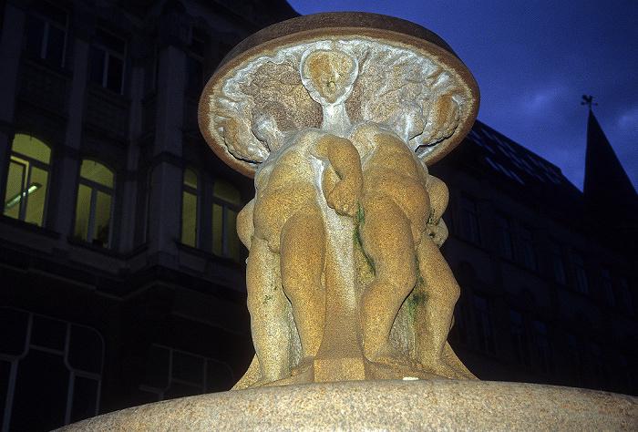 Leipzig Lipsia-Platz: Brunnen