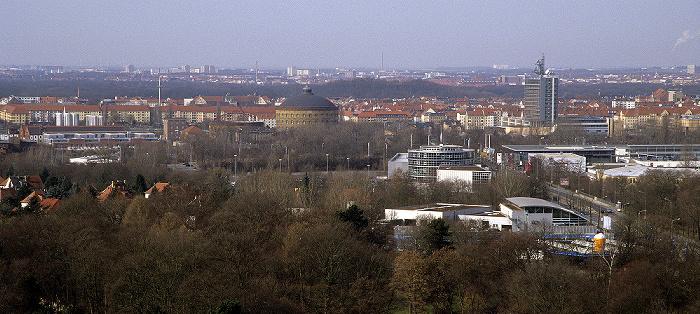 Leipzig Völkerschlachtdenkmal: Blick von der Denkmalskrone