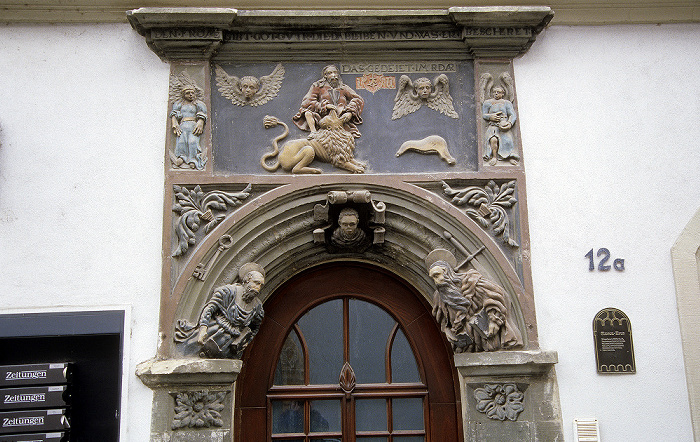 Naumburg Altstadt: Marienstraße: Simson-Portal (Peter-Pauls-Haus)