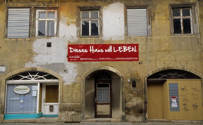 Naumburg Altstadt: Marienstraße: Haus der Stadtsanierungsmaßnahme Dieses Haus will Leben