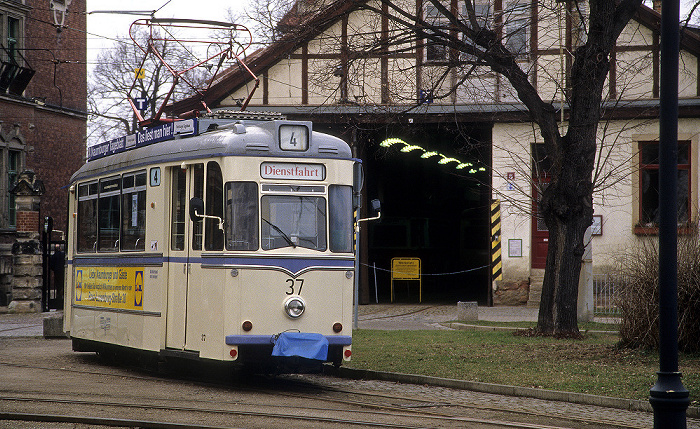 Naumburg Straßenbahndepot: Historische Straßenbahn Wilde Zicke