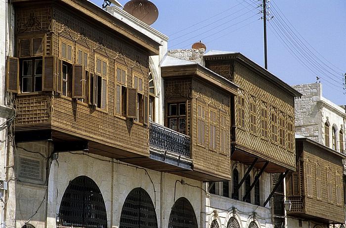 Aleppo Altstadt: Hölzerne Hausanbauten
