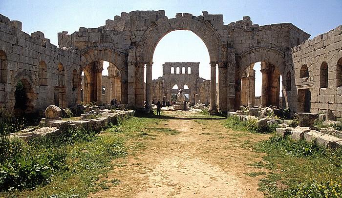 Qalaat Seman Die Toten Städte: Simeonskloster: Pilgerkirche