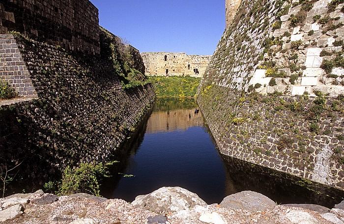 Tell Kalach Krak des Chevaliers: Wassergraben