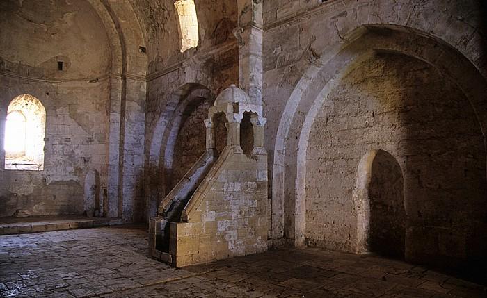 Tell Kalach Krak des Chevaliers: Burgkapelle mit der Minbar (Predigtkanzel)