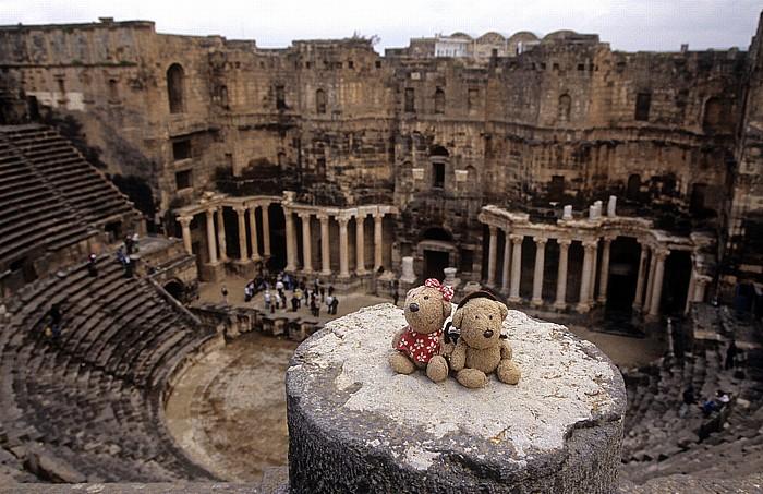 Bosra Römisches Theater (Zitadelle): Teddine und Teddy