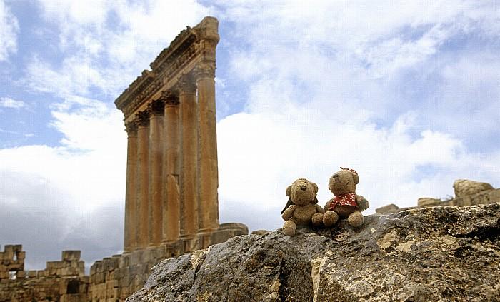 Baalbek Römischer Sakralbezirk: Tempel des Jupiter Heliopolitanus: Teddy und Teddine