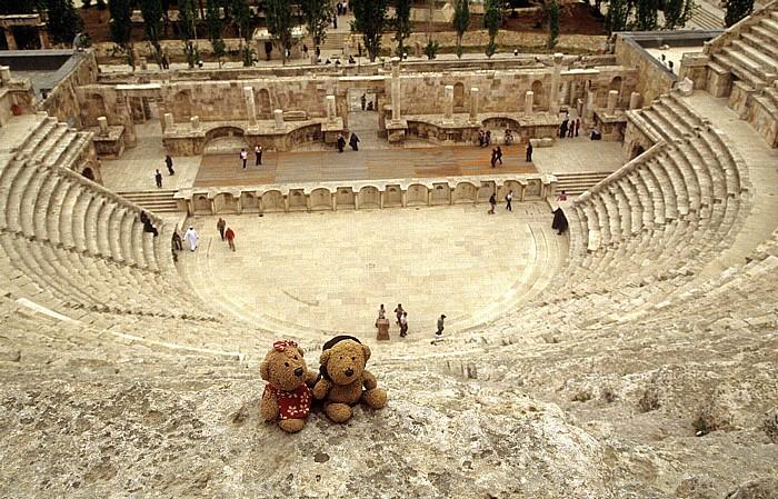 Amman Römisches Theater: Teddine und Teddy