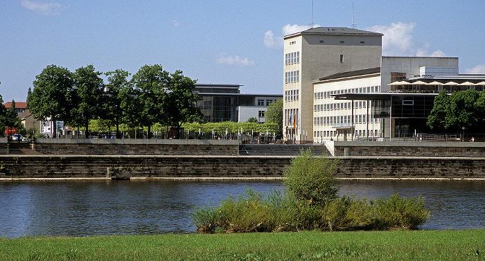 Dresden Sächsischer Landtag, Elbe, Neustädter Elbufer