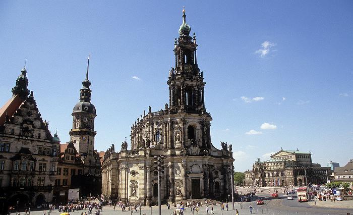 Dresden Innere Altstadt: Residenzschloss, Hausmannsturm, Katholische Hofkirche, Semperoper